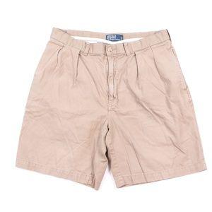 90s Polo Ralph Lauren Mens 35 Pleated Chino Shorts